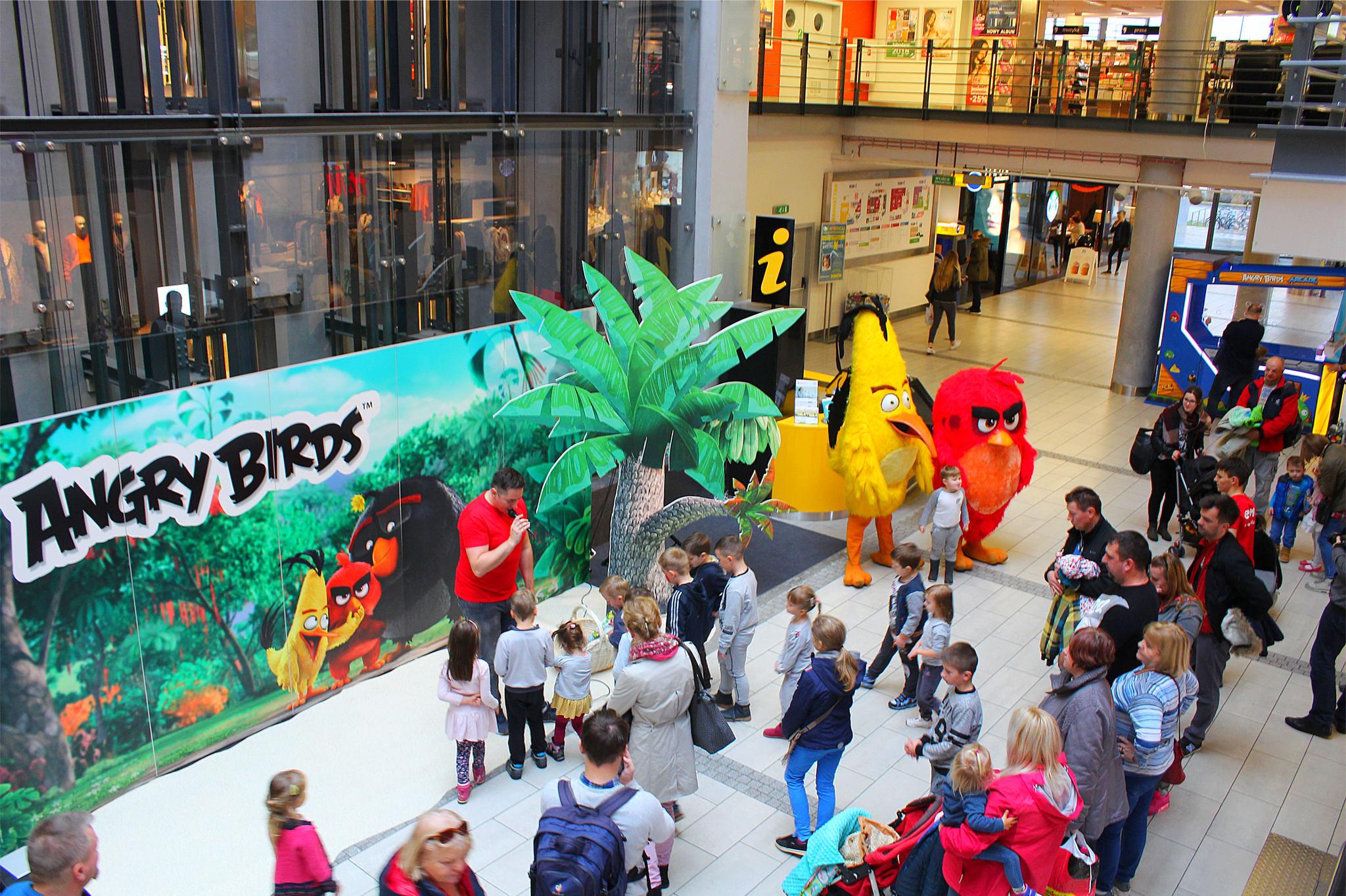 Ptaki z Angry Birds na evencie